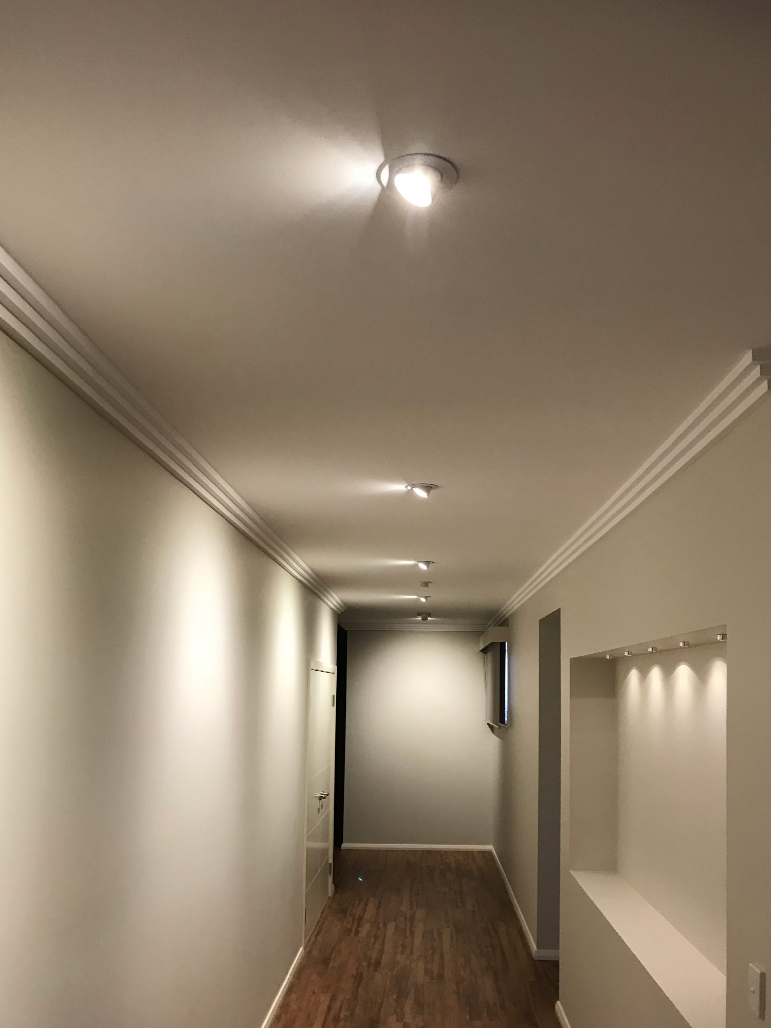 lights in a halway installed by nps electricians
